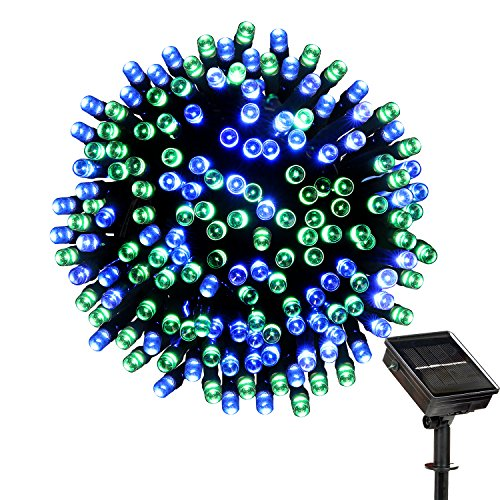 72' Pond (Solar String Lights Outdoor - LOENDE 72ft 200LED Blue Green 8 Modes Decorative Lights Christmas Lights for Christmas Tree Patio Lawn Garden Party Wedding Decorations, 100% Waterproof, 2-year Warranty)