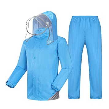 YHUJH Home Impermeable para Adultos Pantalón de Lluvia Traje ...