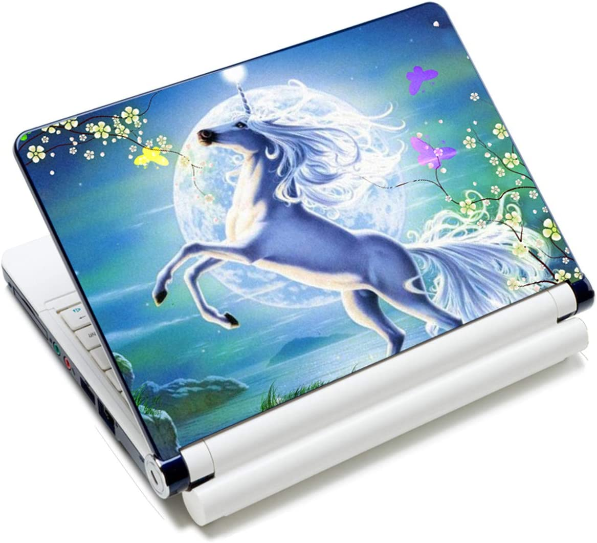 Laptop Stickers Decal,12 13 14 15 15.6 inches Netbook Laptop Skin Sticker Reusable Protector Cover Case for Toshiba Hp Samsung Dell Apple Acer Leonovo Sony Asus Laptop Notebook (Cute Unicorn)