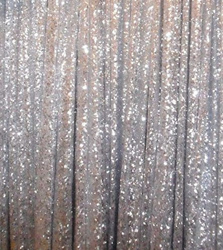 6ft7ft Silver Sequin Backdrops Fabric Wedding Ceremony Backdrop