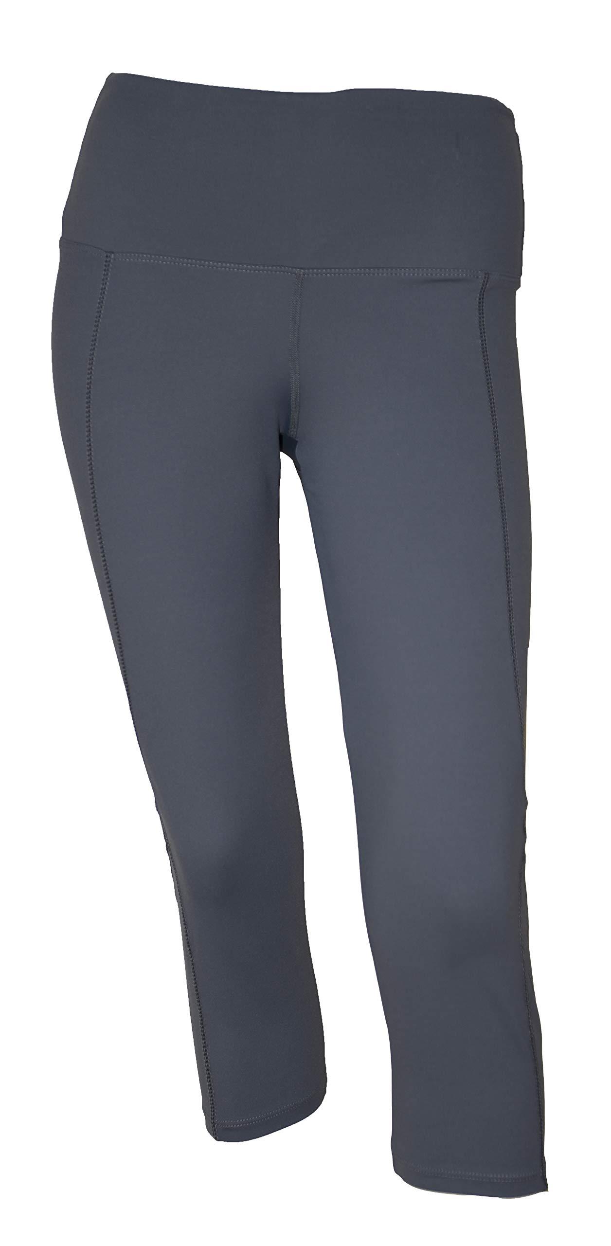 Private Island Women UV Swim Rash Guard Capri Pocket Pants Yoga (XXL, Grey) by Private Island