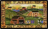Toland Home Garden Americana Farm 18 x 30 Inch Decorative Country Scene Floor Mat Faith Family Doormat