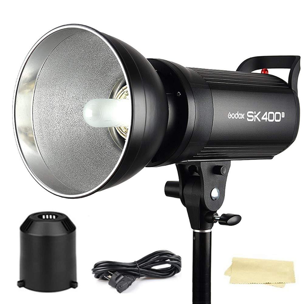 Godox SK400II 400Ws GN65 5600K Studio Strobe Flash Monolight Light for Studio Shooting,with Built-in Godox 2.4G Wireless X System,150W Modeling Lamp(Bowens Mount)