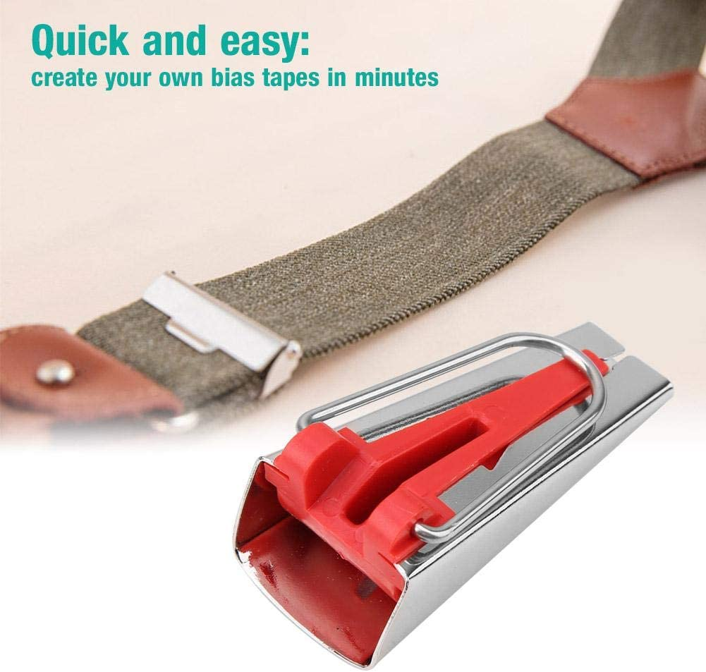HEEPDD Stainless Steel Fabric Tape 12mm 4 Size Fabric Bias Tape Maker Tools 6mm 12mm 18mm 25mm Fabric Sewing Quilting Bias Binding Maker