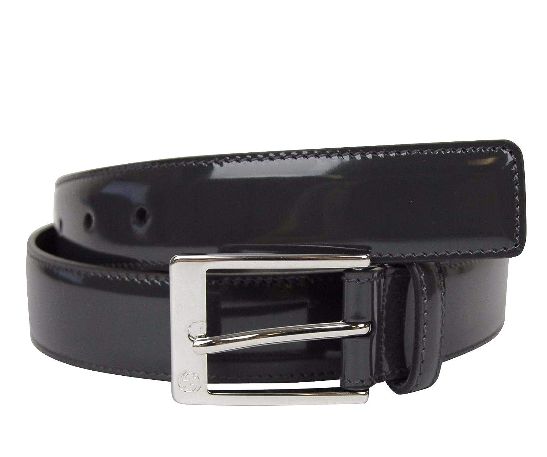 Amazon.com Gucci Men\u0027s Square Dark Gray Patent Leather Belt