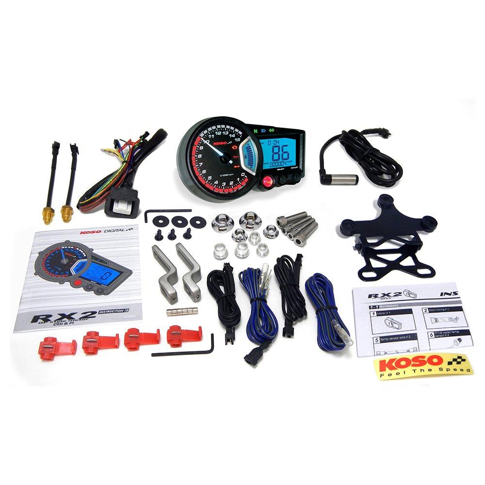 Koso BA010001 RX-2 GP Style Multifunction Meter