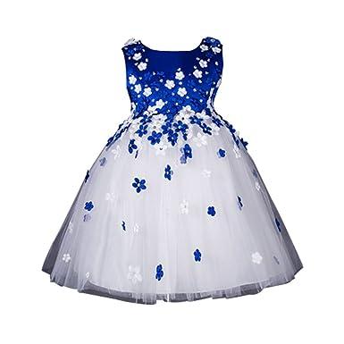 ZAMME ZAMME Mädchen-Tanz-Blumen-Kleid-Ballkleid -Partei-Kleid Große ...