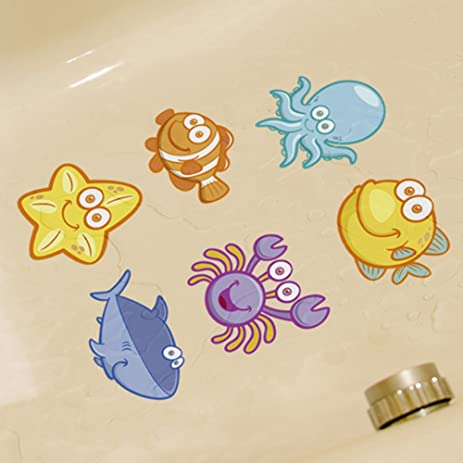 Amazon.com: CoSopo Smiley Face Series Non Slip Bath Tub Tattoos Tub ...