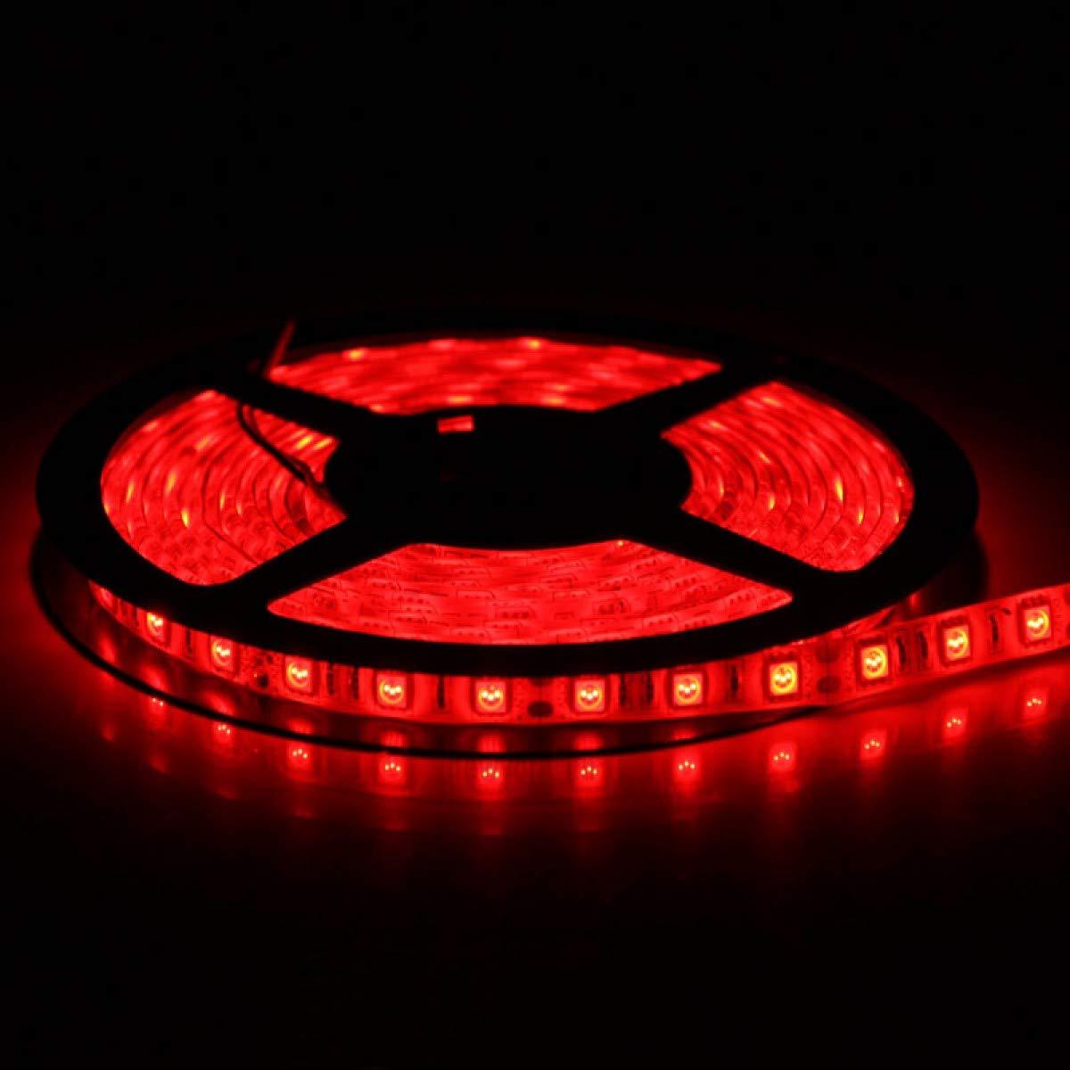 Red LED Strip Light, iNextStation 16ft/5m SMD5050 300 LEDs 12V Flexible Non-Waterproof LED Tape/LED Rope/LED Ribbon 【Red】