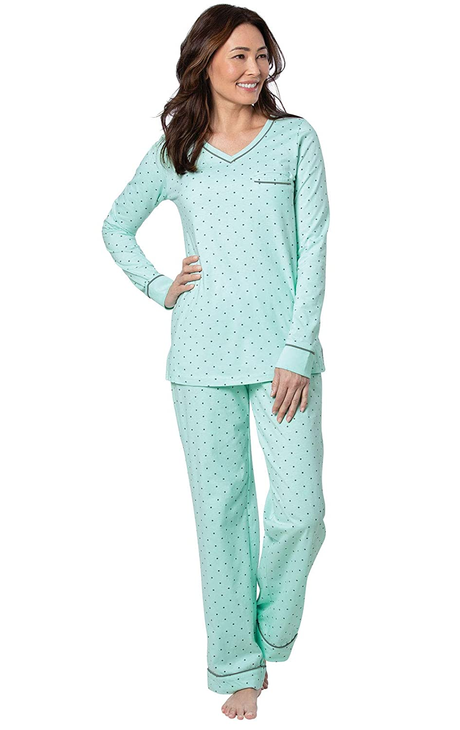 PajamaGram Cotton Pajamas for Women Womens PJ Sets Pullover