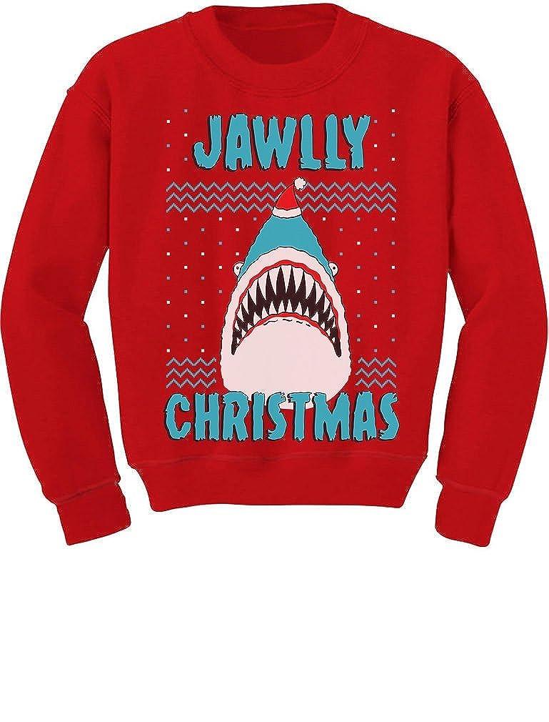 TeeStars - Jawlly Christmas Shark Ugly Christmas Toddler/Kids Sweatshirt GMPlhZhgf5