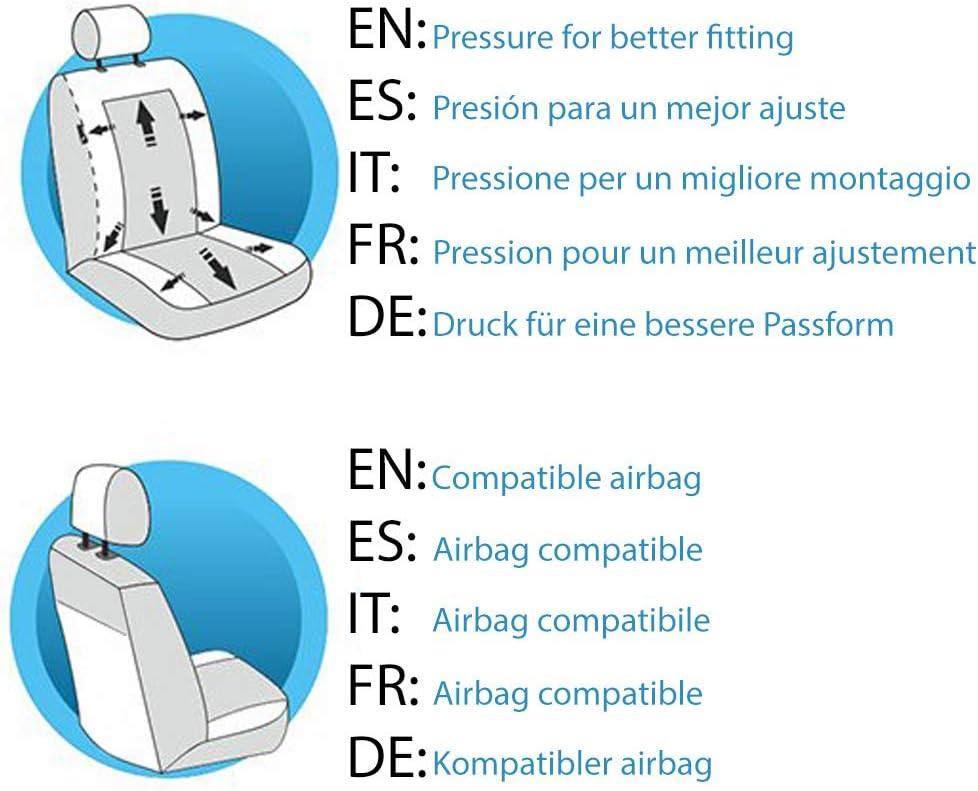 Lupex Shop N.GS Housses de si/ège compatibles T-ROC