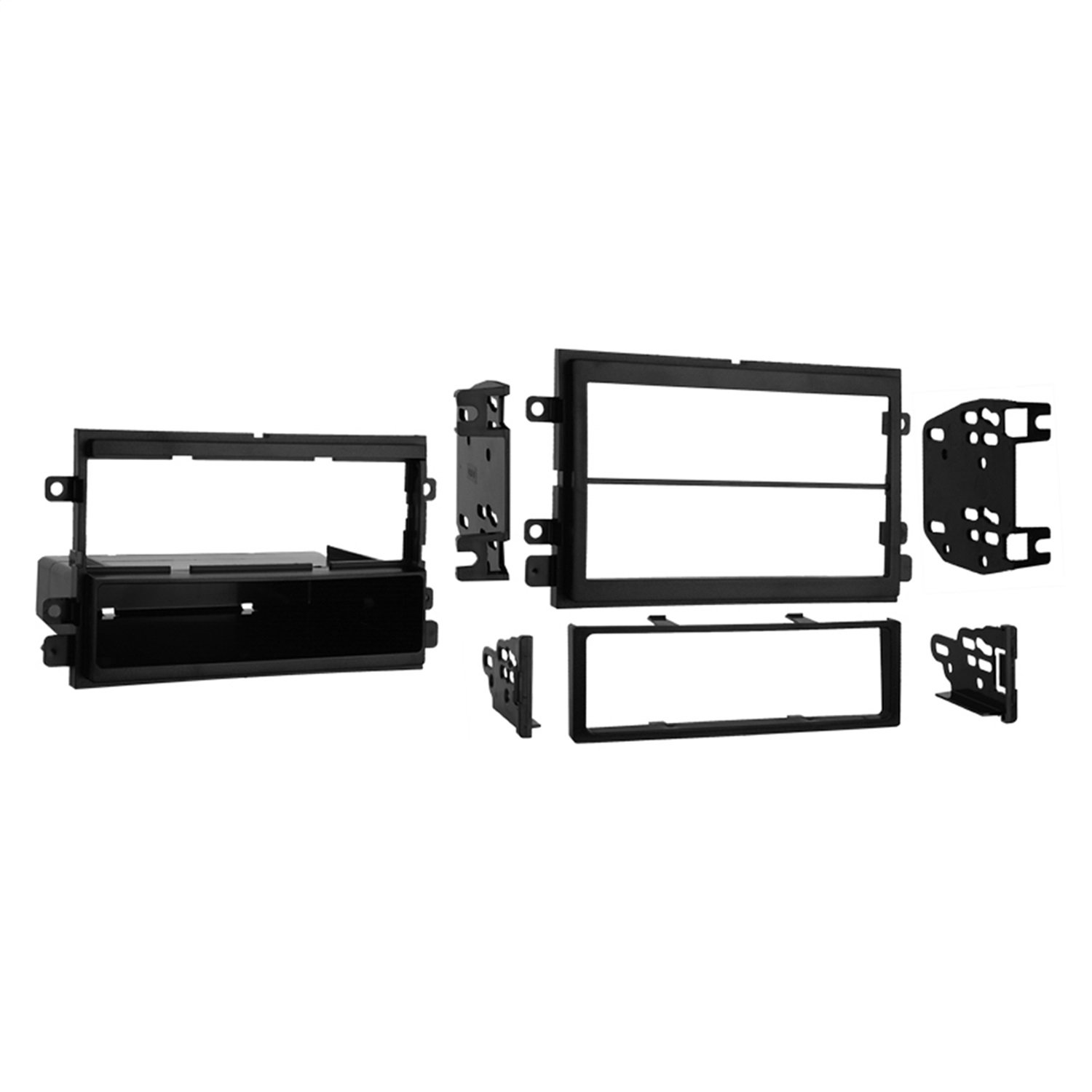 Metra 99-5807 Single DIN/Double DIN Installation Kit for Select 1974 8211, 2003 Ford/Mercury Vehicles (Black) Metra Electronics Corporation