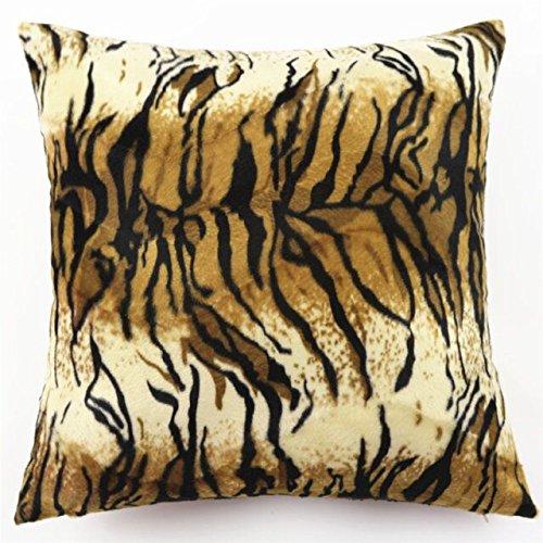 (Lydealife (TM) Super Soft Short Plush Animal markings Decorative Throw Pillow Cover Pillow Case Pillowcase Cushion 18