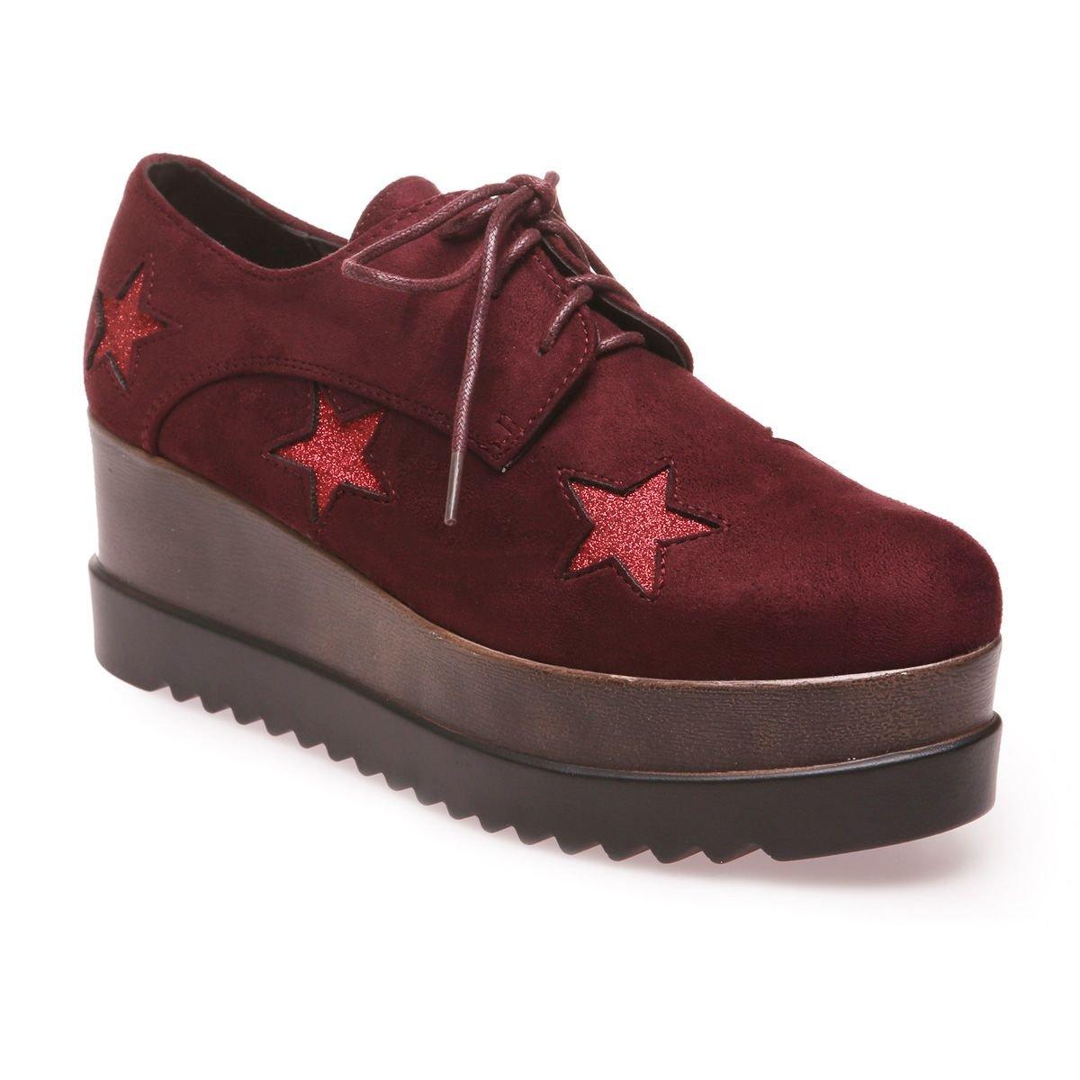 La Modeuse - Zapatos de cordones para mujer 39 EU|Rojo