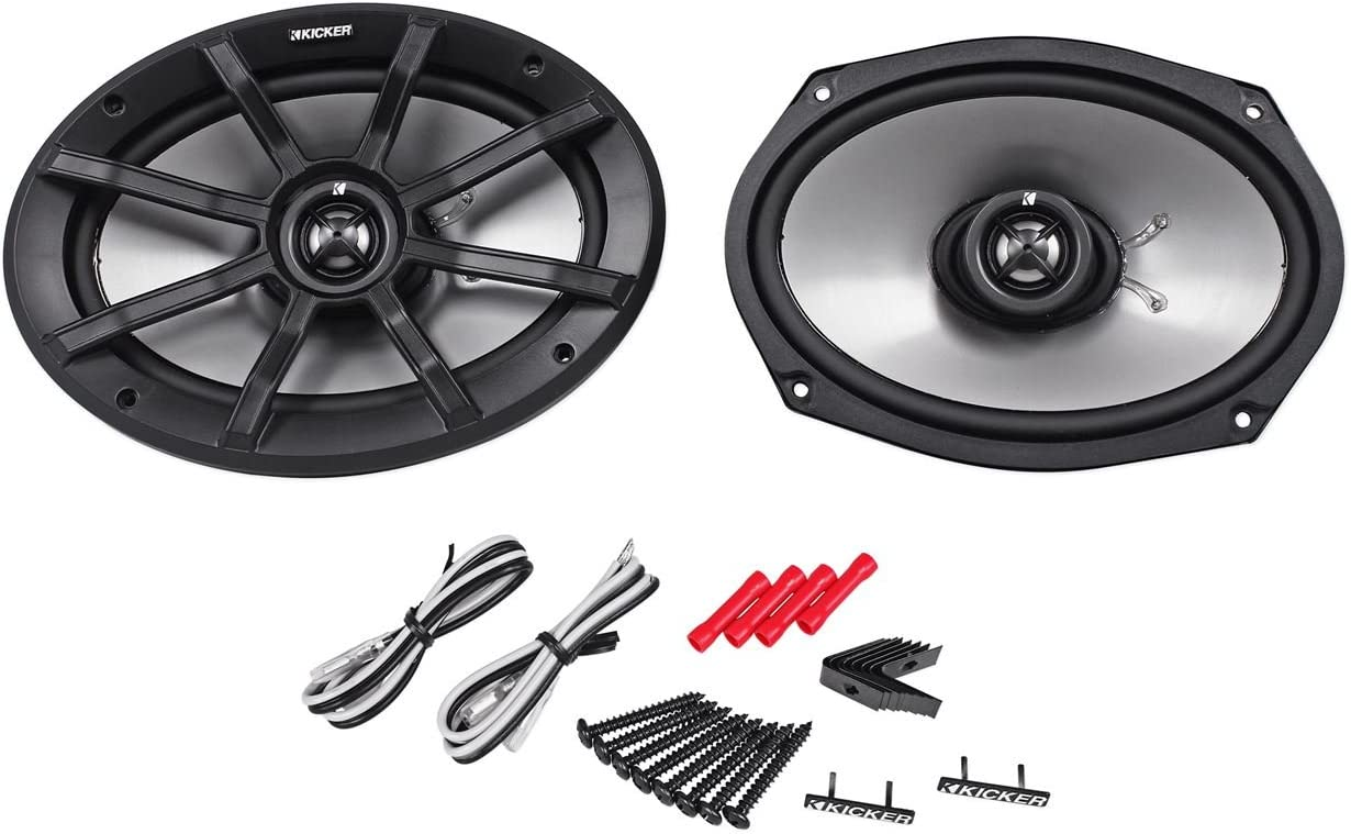 "Kicker Pair of Kicker 6x9"" 180 Watts Peak/90 Watts RMS 2-Ohm ATV/Motorcycle Speakers"
