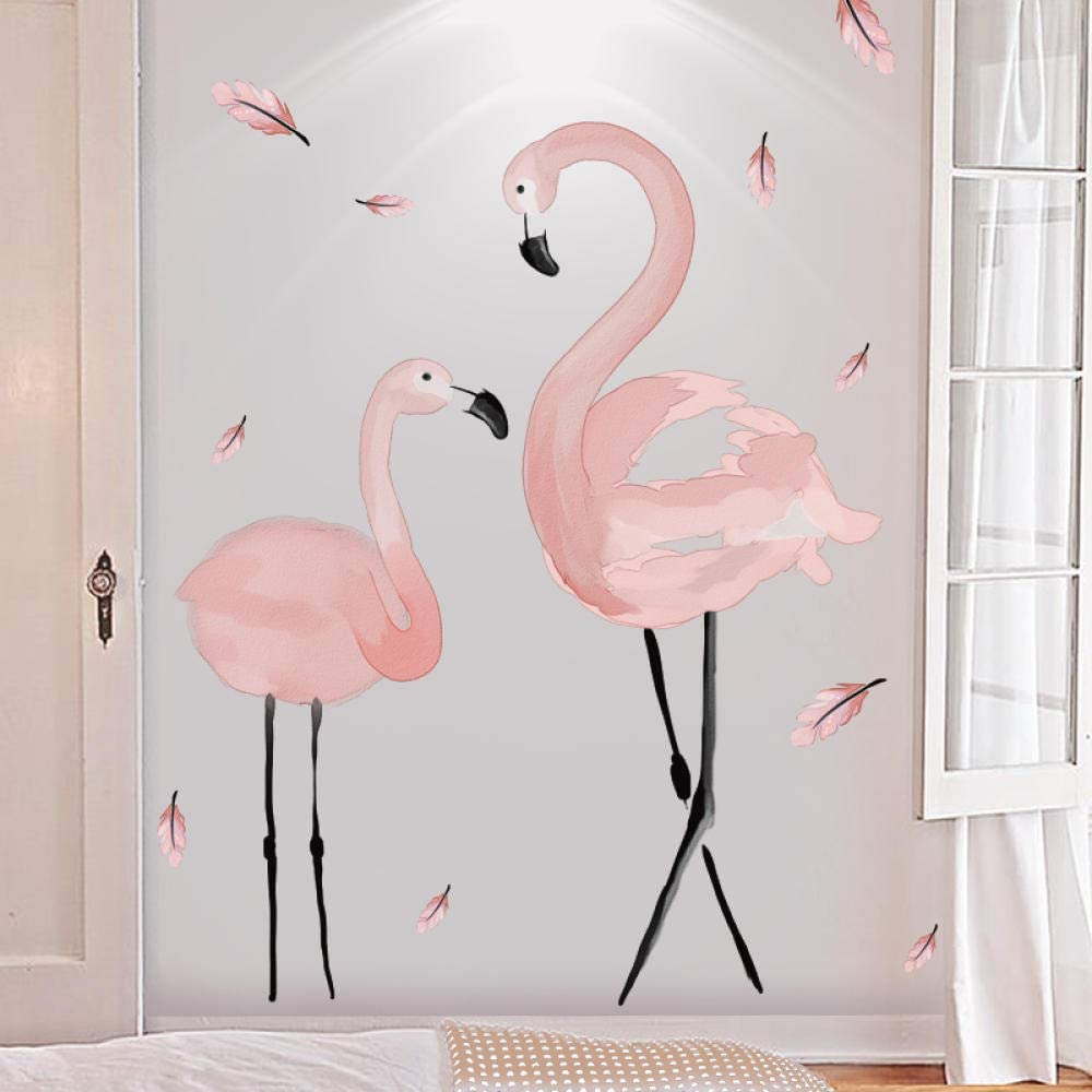 Pink Flamingo Wall Decals Vinyl Peel Stick Removable Wall Stickers Diy Decor Children S Bedroom Child Décor Decals Stickers Vinyl Art Home Garden