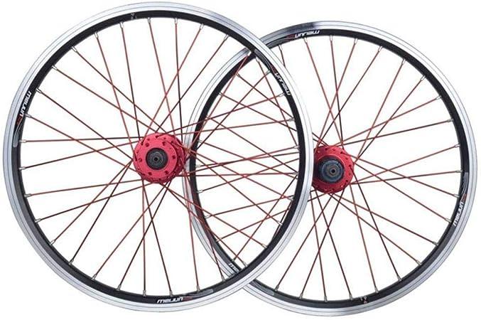 Ruedas De Bicicleta De Carretera Ruedas De Bicicleta BMX De 20 Pulgadas Llanta De Aleación De Doble Capa Disco V Freno De Liberación Rápida 7 8 9 10 Velocidad 32H,Black-20inch: Amazon.es: Hogar