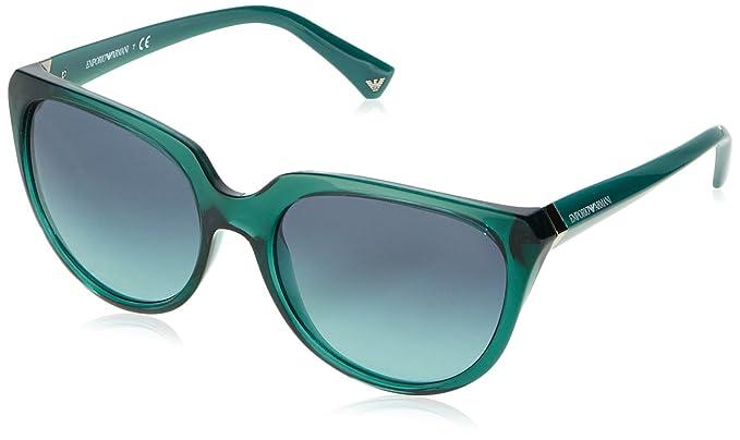 Emporio Armani Unisex Sonnenbrille EA4027, Grün (Green 52014S), One size (Herstellergröße: 57)