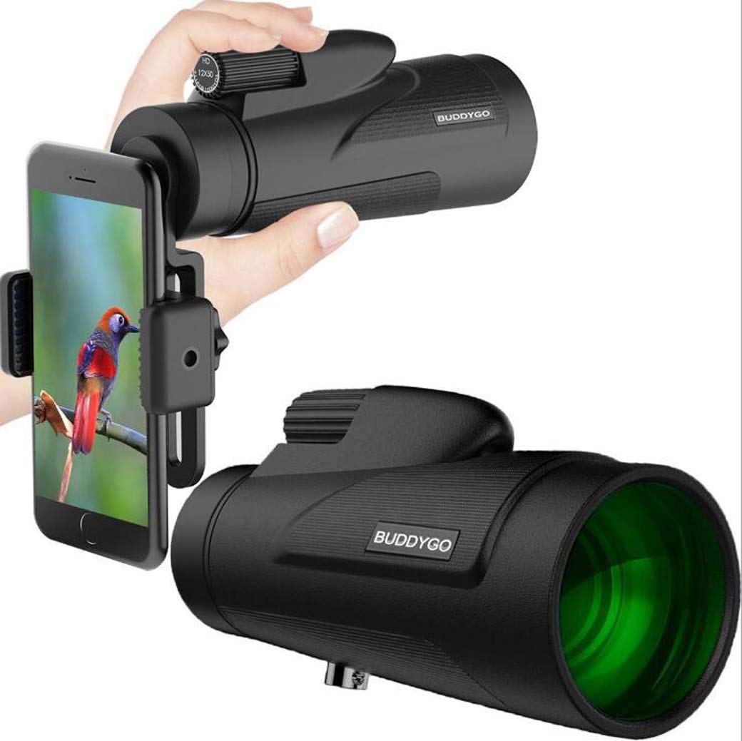 Zoom Monocular, Portable New Large Eyepiece 12X50 HD High Power Night Vision Shimmer Outdoor Telescope by ZTYD
