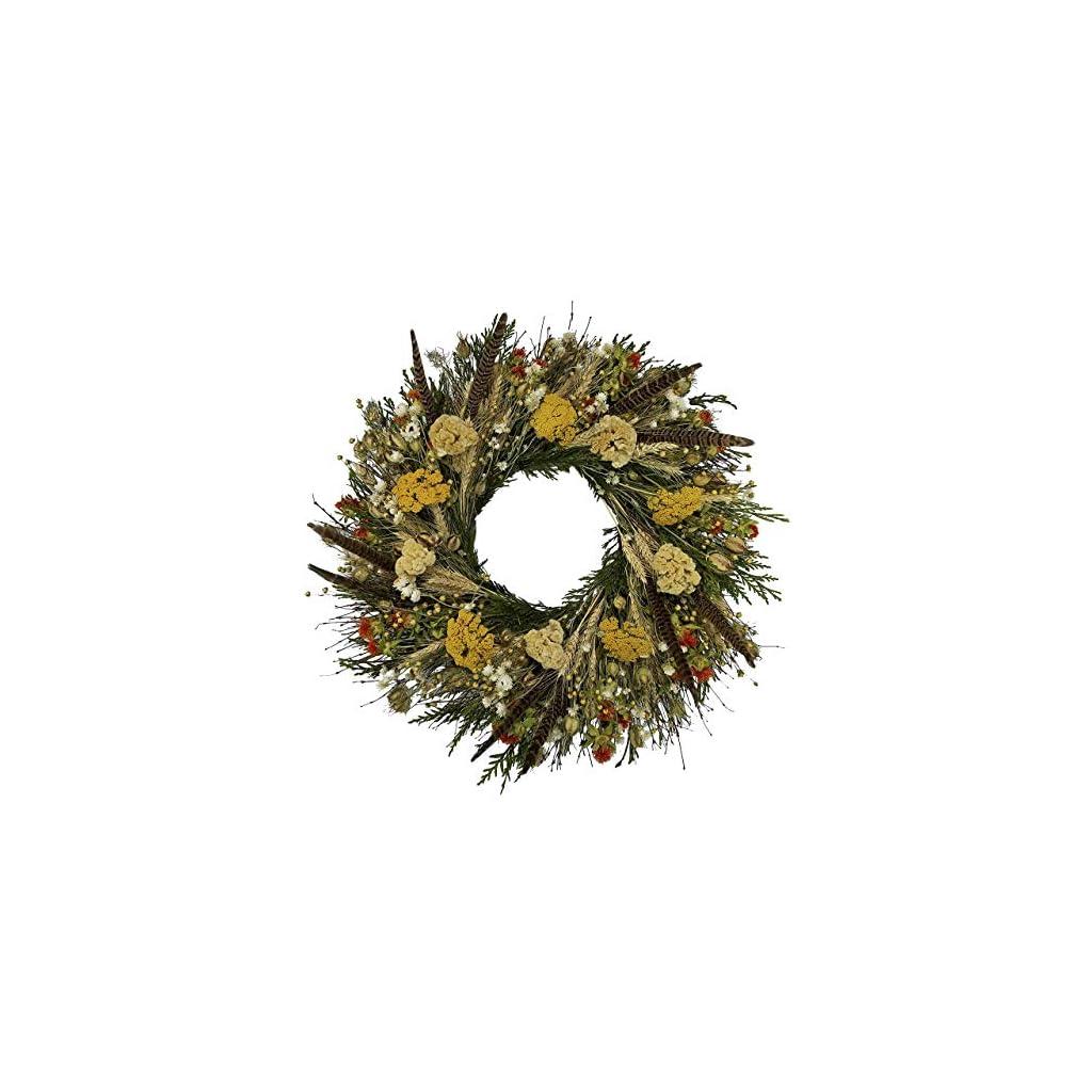 VanCortlandt-Farms-Handmade-Fall-Flowers-Feathers-Wreath