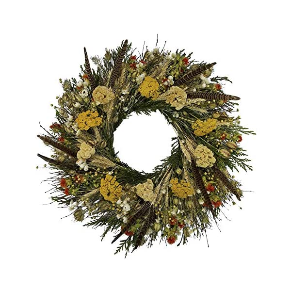 VanCortlandt-Farms-Handmade-Fall-Flowers-Feathers-Wreath