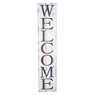 Welcome Wooden Sign - Welcome Vertical Sign - Farmhouse Style Sign- Fixer Upper- 42
