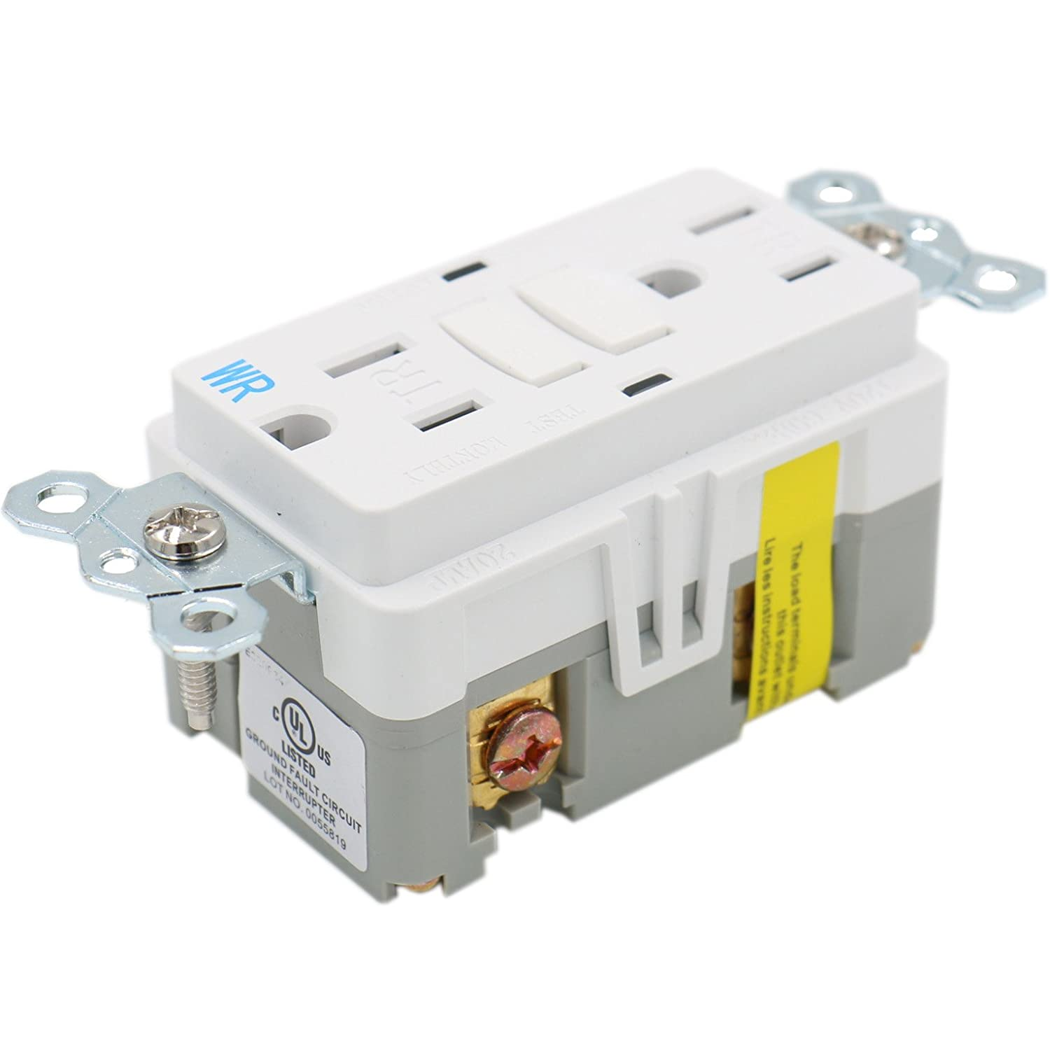 Baomain Gfci Outlet Receptacle 15amp 120vac 60hz Weather Resistant Fault Circuit Interrupter Ground And Tamper Interruptor