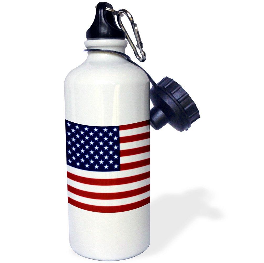 White 21 oz 3dRose wb/_37607/_1 Unites States American Flag Sports Water Bottle