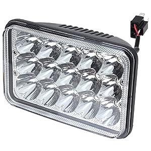 4x V-Spec 4x6 Premium LED Headlight Conversions - Clear H4651 H4656 H4666