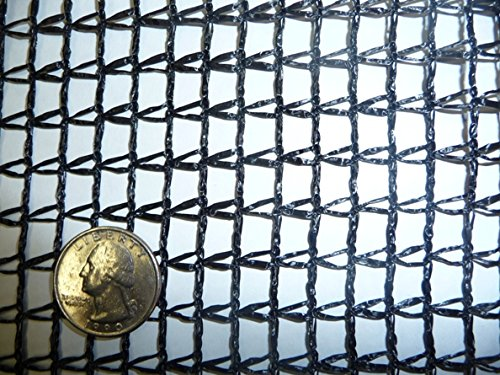 Green Vista Deluxe 10x12 Feet Multi Use Net/Netting 30% Shade Barrier and Cover Cloth for Patios, Gardens, Greenhouses and More - 1/4x3/8 Inch Mesh - Black