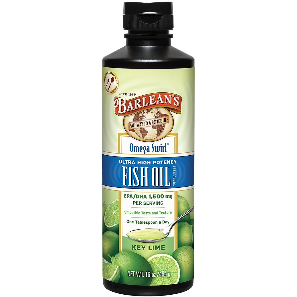 Barlean's Ultra High Potency Omega Swirl Fish Oil, Key Lime, 16-oz