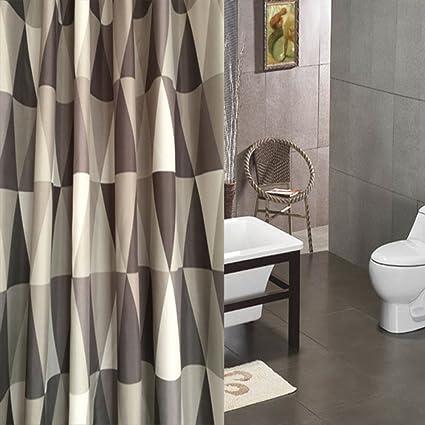 European Bathroom Shower Curtain Dividers Polyester Thicken Waterproof Mildew Curtains C
