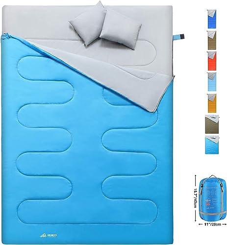 SEMOO Envelope Double Sleeping Bag Lightweight Water Resistant