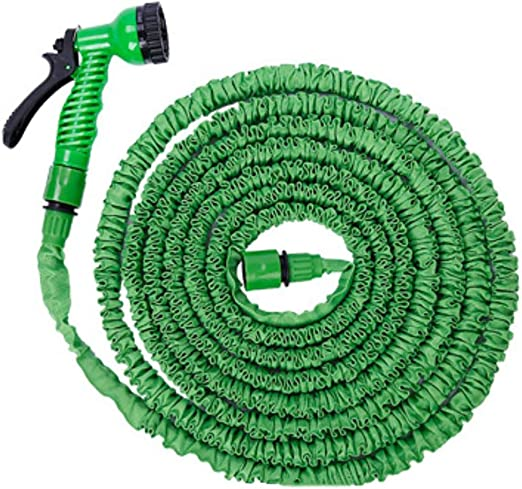DPPAN Ligero Manguera de Jardín Flexible Extensible, 1/2inch, 3/4inch Conexiones Sólidas 7 Funciones Manguera Mágica Protección de la Tela,Green_25FT/7.5M: Amazon.es: Jardín