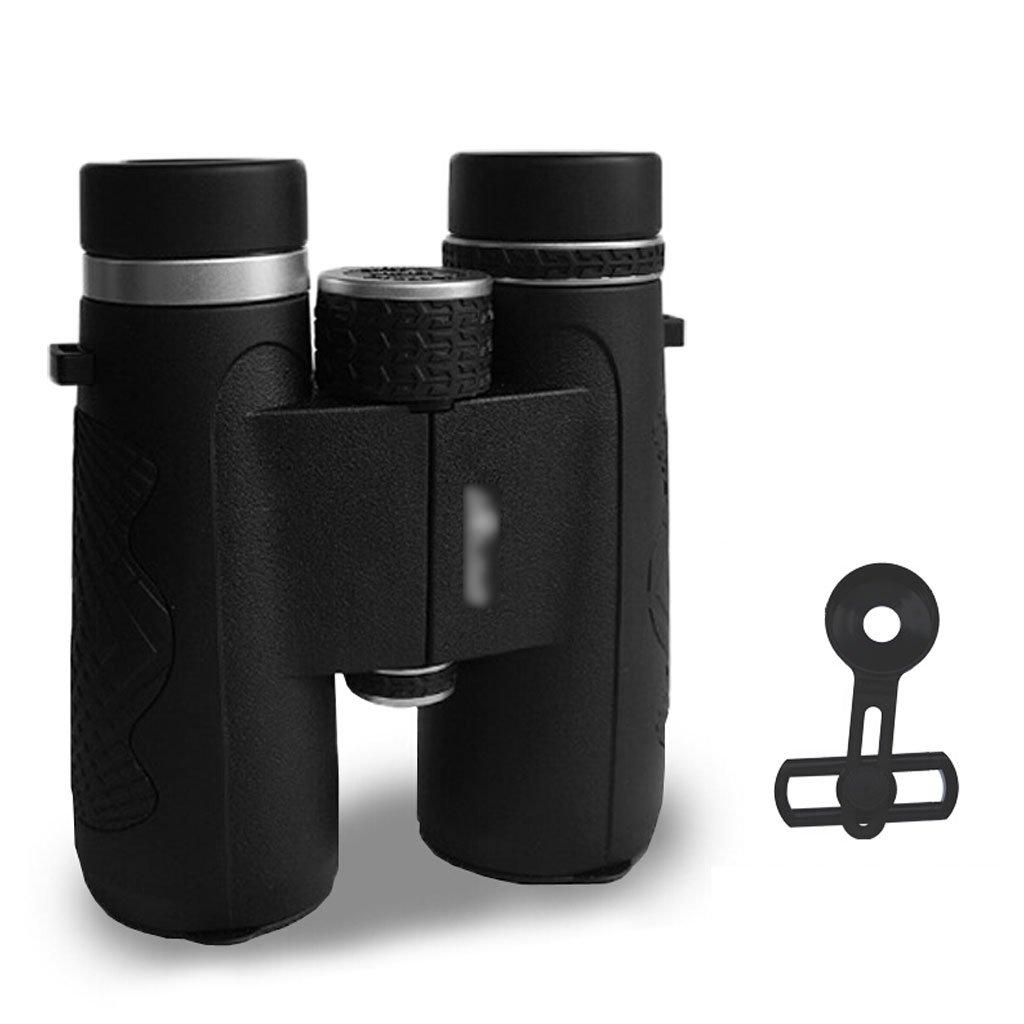 XF 双眼鏡 10×42双眼鏡 - バードウォッチング用ルーフプリズム双眼鏡 - 防水防曇HD - コンサートシアターオペラ旅行スターゲージング狩猟コンサートスポーツ 望遠鏡 (色 : 黒)  黒 B07NQ6C5ZS