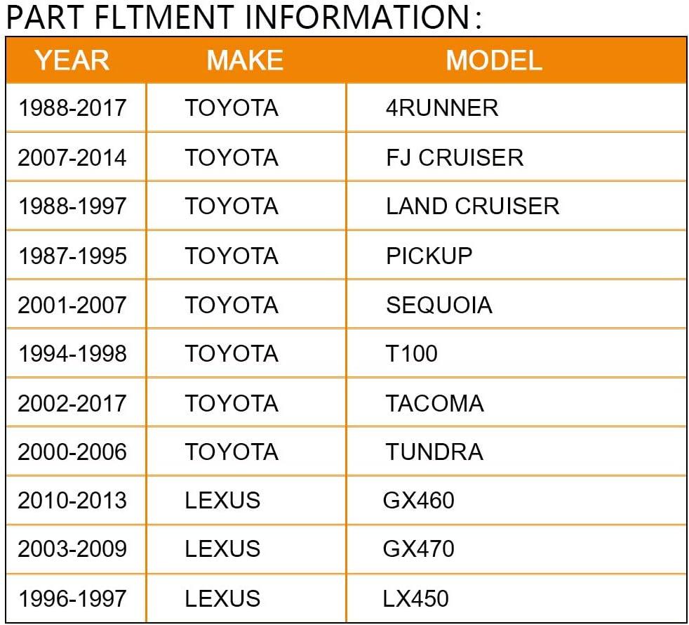2 Thick//6x5.5//6x139.7mm Hub bore 106mm 12x1.5 BRTEC 4pcs Hubcentric Black Wheel Adapters for Toyota 4Runner//FJ Cruiser//Land Cruiser//Pickup//Sequoia//T100//Tacoma Lexus GX460//GX470//LX450