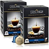 costa rica expresso coffee - Nespresso Compatible Capsules - 60 Count - Premium Dark Roast Espresso by Carter Phillip Fine Coffee - Fit Nespresso Original Line Machines - Delicious Alternative to Nespresso Pods