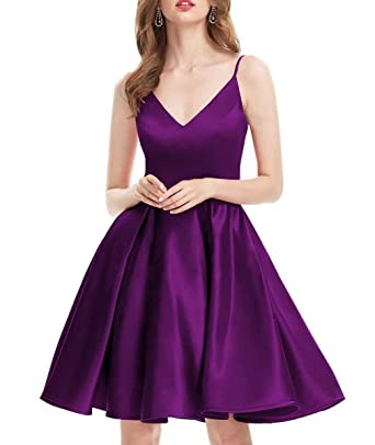 modern design outlet sale harmonious colors Momabridal Short V Neck Spaghetti Strap Homecoming Dresses ...
