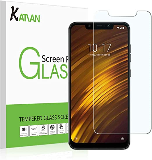 Amazon Com 2 Pack Xiaomi Pocophone F1 Screen Protector Katian Hd Clear Protector Anti Scratch No Bubble Case Friendly 9h Hardness Tempered Glass Screen Film For Xiaomi Pocophone F1
