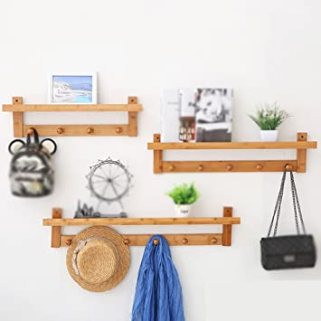 Amazon.com: Multi-Functional Primary Color Wall Coat Rack ...