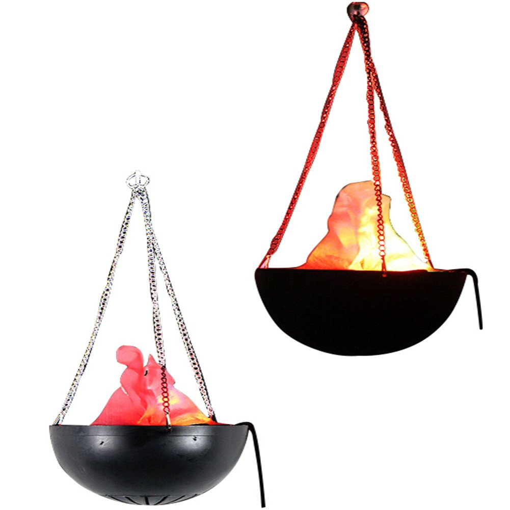 Giveme5 110V Hanging flame light Prop Fake Fire Lamp- Great for Halloween Christmas decoration (20cm)