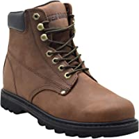 """EVER BOOTS """"Tank Men's Soft Toe Oil Full Grain Leather Work Boots Construction Rubber Sole"""
