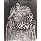 Canvas Prints Of Oil Painting ' Odalisque In Striped Pantaloons, 1925 By Henri Matisse ' , 8 x 10 inch / 20 x 25 cm , Polyster Canvas, gifts for Bath Room, Home Theater And Living Room Decoration, art