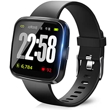 bc817be9c6 【2019最新版】 スマートウォッチ 血圧計 心拍 歩数計 スマートブレスレット スライド設計