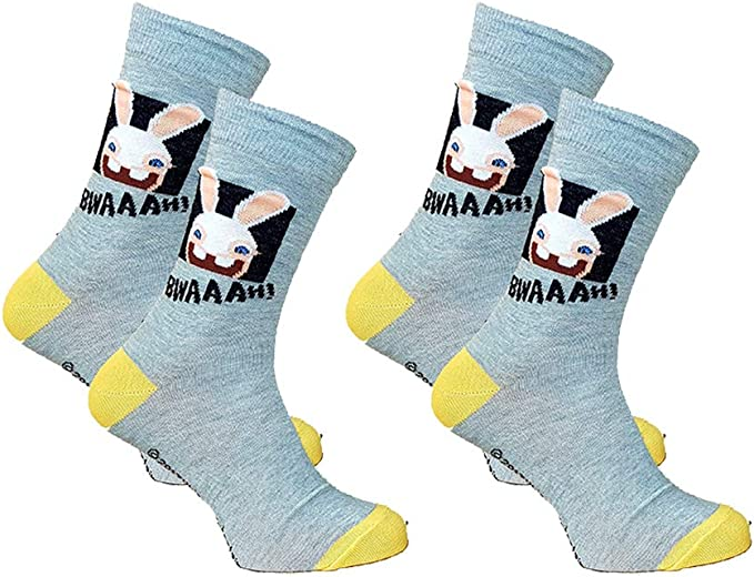 Socks Raving Rabbids for mens in Cotton