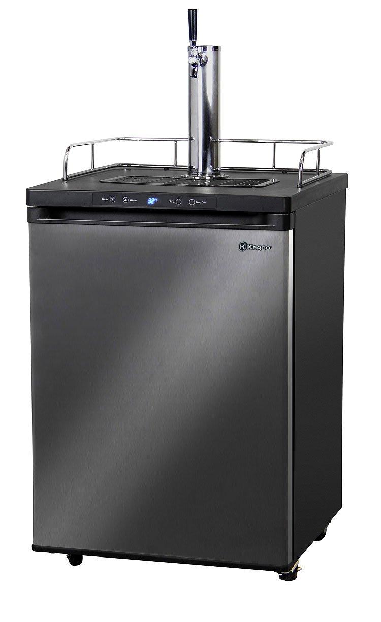 Kegco Full-Size Digital Homebrew Kegerator Single Faucet Ball Lock Keg Dispenser Black Stainless