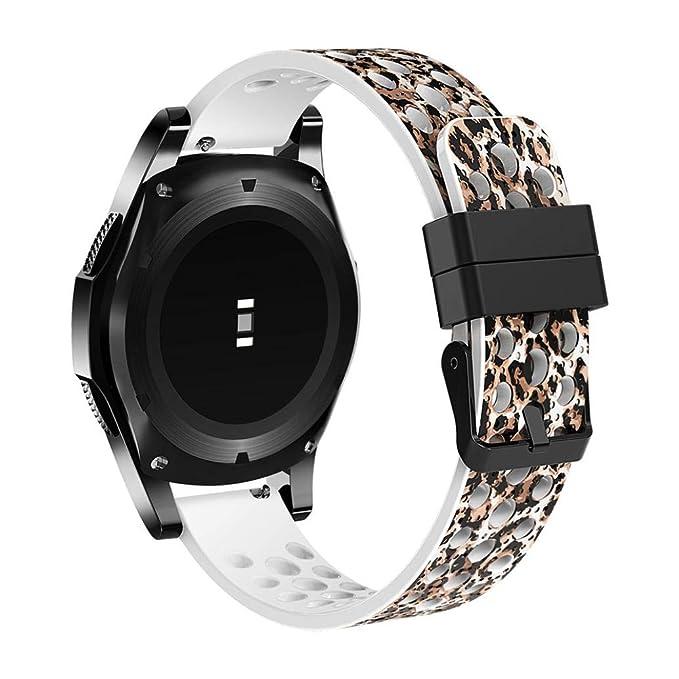 Bestow Samsung Gear S3 Frontier Pulsera de Silicona Clš¢sica Correa Reloj Banda Reloj Inteligente Electronics Gadgets Reloj de Pulsera(A): Amazon.es: Ropa y ...