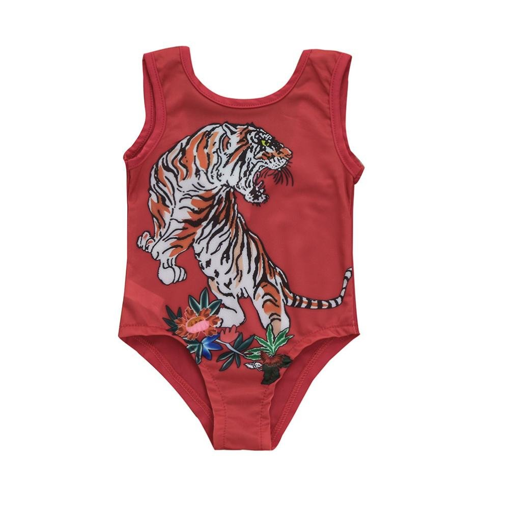 664a993808 Top1  Fineser Infant Toddler Baby Girls Swimsuit Tiger Print One Piece  Swimwear Kids Beach Bathing Suit