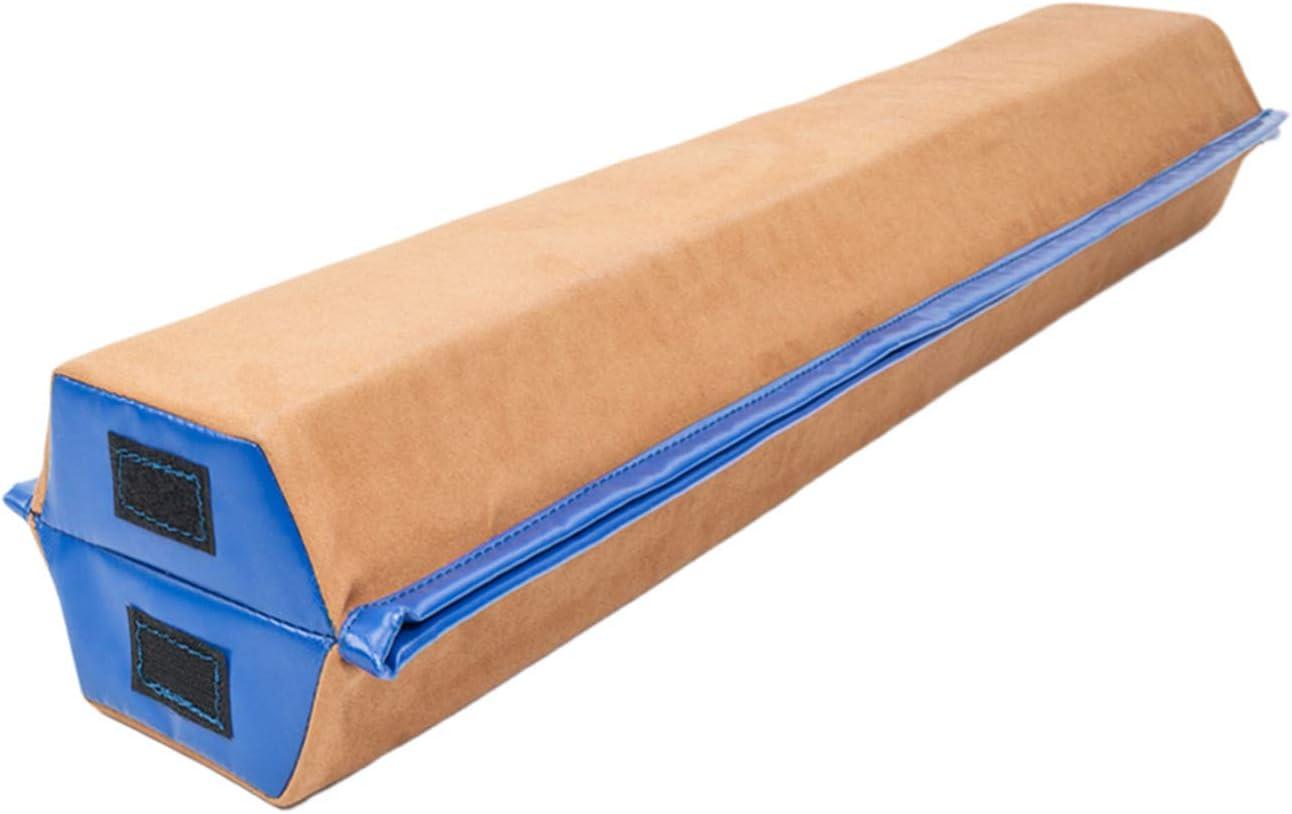 SHUTAO 8フィート ヤング体操 チアリーダー トレーニング 折り畳み バランス ビーム ブラウン&ブルー